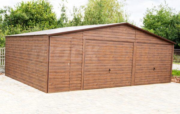 Garaż dwuspadowy 7,5×6 + pomieszczenie gospodarcze