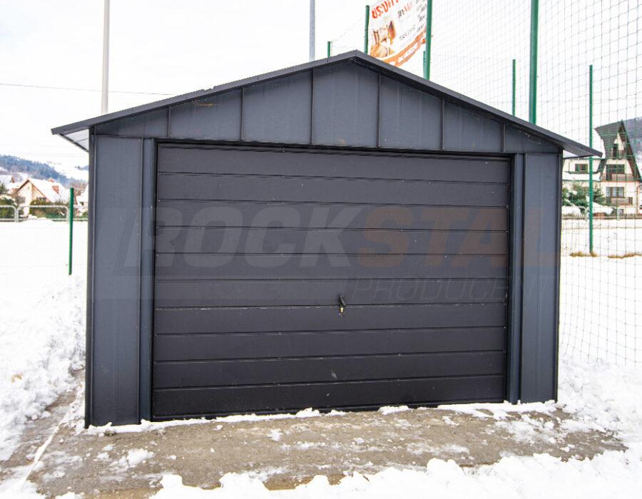 Rock Stal Iron – garaż z blachy z rąbkiem