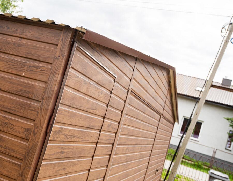 Garaż blaszany 6×6 drewnopodobny – to nasz bestseller
